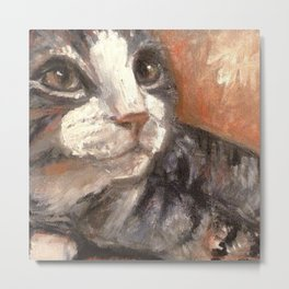 Boots the feral / art for cat lovers Metal Print