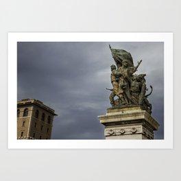 Battle of Stones and Skies Art Print