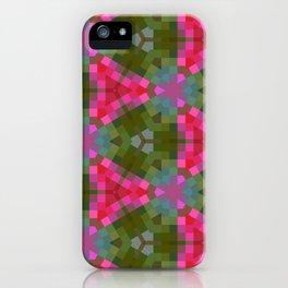 Retro Pink Geometric iPhone Case