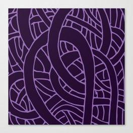 Microcosm in Purple Canvas Print