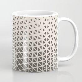 Brown and Cream Geometric Wave Pattern 2021 Color of the Year Urbane Bronze and Shoji White Coffee Mug