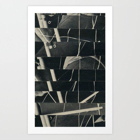 Glitched Rigging Art Print