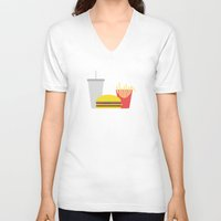 junk food V-neck T-shirts featuring Junk Food by Paul Goerne