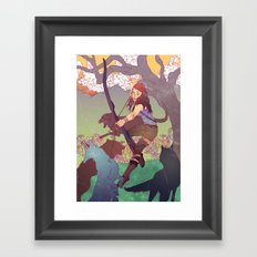 A Survivor is Born Framed Art Print