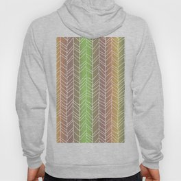 Colorful Rainbow Feather Pattern Hoody