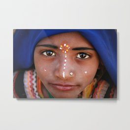 Indian girl from Rajasthan Metal Print