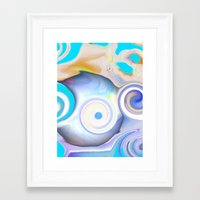 calendars Framed Art Prints featuring Time by Geni