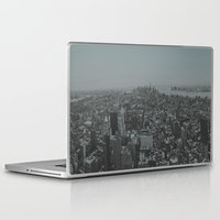 manhattan Laptop & iPad Skins featuring Manhattan by Leah Flores