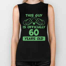 This Guy Is Officially 60 Years Old 60th Birthday Biker Tank