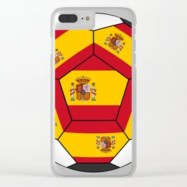 Soccer ball with Spanish flag Clear iPhone Case