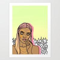 The Sun Babe Art Print