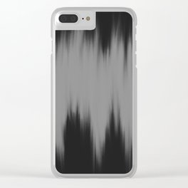 Soundwaves #4 Clear iPhone Case