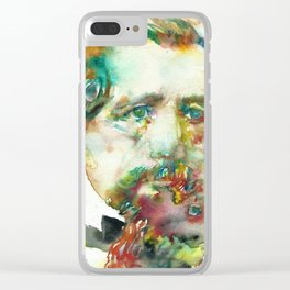 CHARLES DICKENS - watercolor portrait Clear iPhone Case