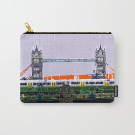 London Tower bridge & tube pop artwok, England photogrphy, mind the gap Carry-All Pouch
