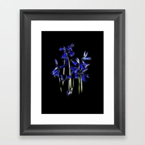 Blubell fractal Framed Art Print