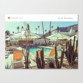Pantone: Palm Springs Pool Canvas Print