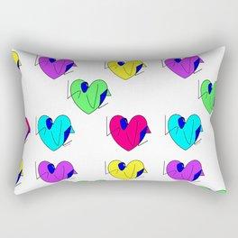 Neon Hearts with Love Rasha Stokes Rectangular Pillow