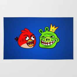 Trollface Pig and Rage Guy Angry Bird Rug