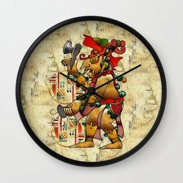 Tribal God War Dance Folk Art Wall Clock