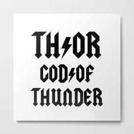 Thor God of Thunder ACDC Metal Print