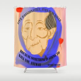 Unnamed Project: Live Passionately Shower Curtain