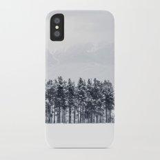 White winter Slim Case iPhone X