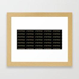 Up Not Down! Framed Art Print