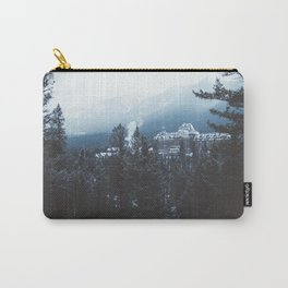 Snowfall in Banff Carry-All Pouch