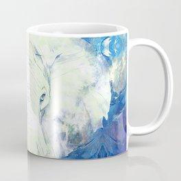 Blue marble water White Elephant Digital art Coffee Mug