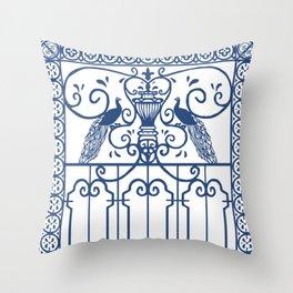Blue Pattern Throw Pillow