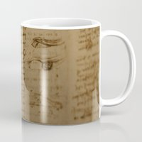 da vinci Mugs featuring Da Vinci I by Megan Burgess
