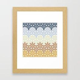 Seamless Colorful Abstract Flower Pattern from Ellipse Intersections Framed Art Print