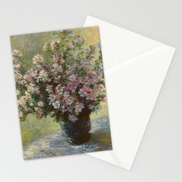 Claude Monet - Vase of Flowers Stationery Cards