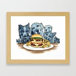Burger Dogs Framed Art Print