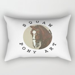 Squaw Pony Logo Gifted Rectangular Pillow