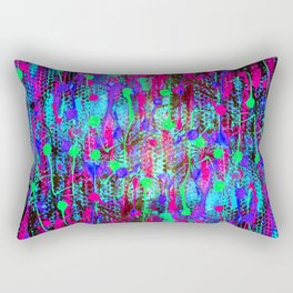 Neon Lights Rectangular Pillow