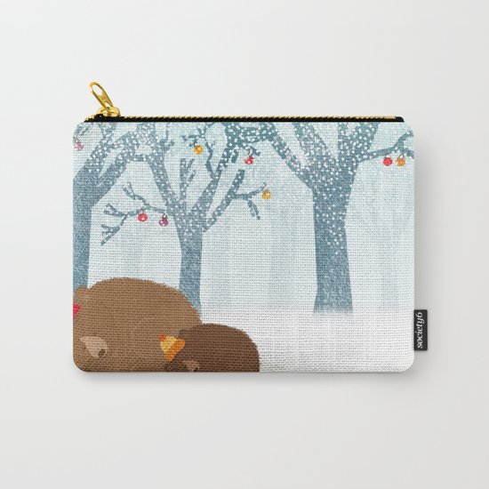 Sleeping winter Carry-All Pouch