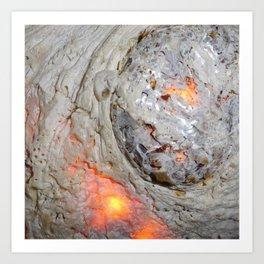 Flaming Seashell 3 Art Print