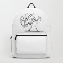 My Chicken White Backpack