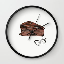 Chocolate Cake Slice Wall Clock