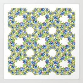 Wild Blueberries Lattice Art Print