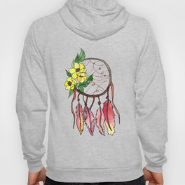Dream Catcher with Florals and Feathers Hoody