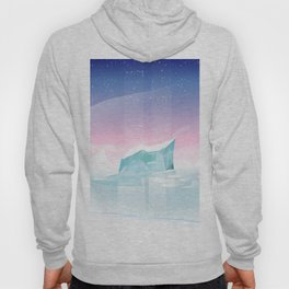 Arctic landscape. Hoody