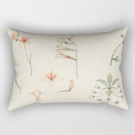 Julie de Graag - Study sheet with gladiolus and apple blossom Rectangular Pillow