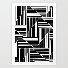 STRIPED PATCHWORK Art Print