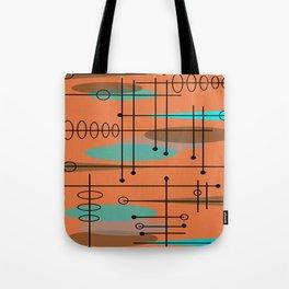 Atomic Era Inspired Dark Orange Tote Bag