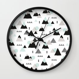 Geometric Fuji mountain japan travel pattern Wall Clock