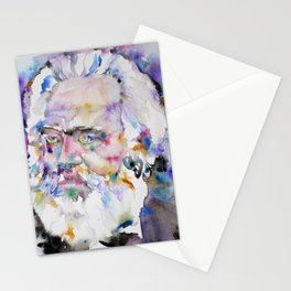KARL MARX- watercolor portrait.2 Stationery Cards