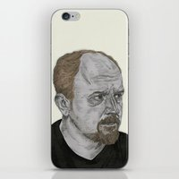 louis ck iPhone & iPod Skins featuring Louis CK by Andy Christofi