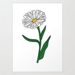 I Love Daisies Art Print